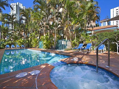 The swimming pool at or near Aruba Surf Resort