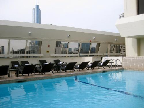 The swimming pool at or near Hampton Inn Chicago Downtown/Magnificent Mile