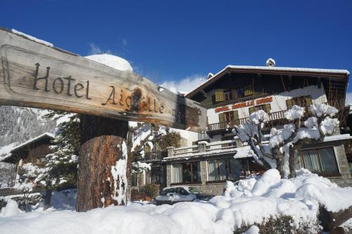 Hotel Aiguille Noire during the winter