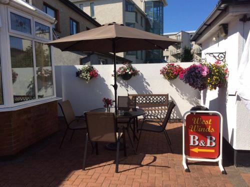 Terrasse ou espace extérieur de l'établissement Westwinds Bed & Breakfast