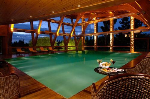 The swimming pool at or near Hotel Posada Los Alamos