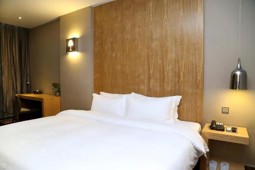 アート ホテルにあるベッド