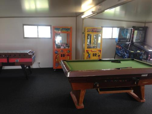 A billiards table at BIG4 Waters Edge Holiday Park