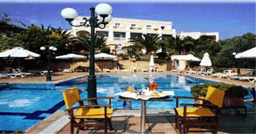 The swimming pool at or near Crithoni's Paradise Hotel