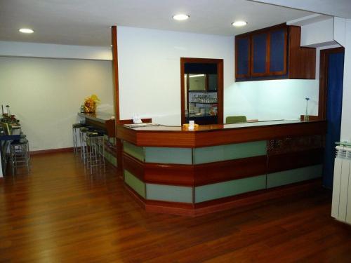 The lobby or reception area at Hostal Liebana