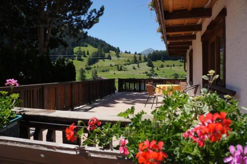Ein Balkon oder eine Terrasse in der Unterkunft Haus Tiroler Heimat