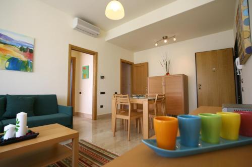 Coin salon dans l'établissement Lux Appartamenti
