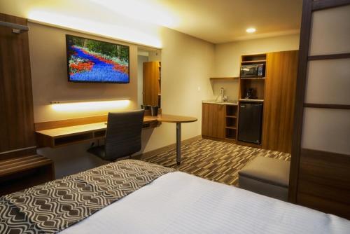 Телевизор и/или развлекательный центр в Microtel Inn & Suites Sault Ste. Marie