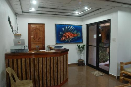 The lobby or reception area at Island Jewel Inn