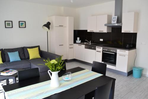 Küche/Küchenzeile in der Unterkunft Ferienwohnung Rockside
