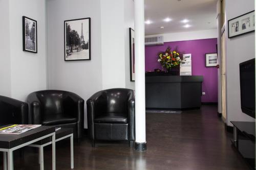 Лобби или стойка регистрации в Hotel du Chemin Vert