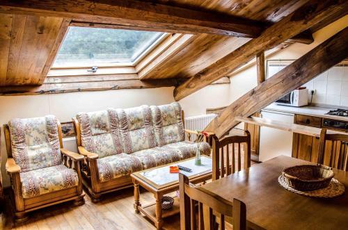 Zona de estar de Casas Rurales Taramundi Verde
