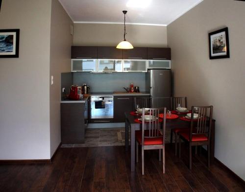 Kuchnia lub aneks kuchenny w obiekcie Apartament Orlowo
