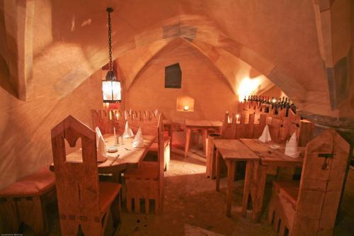 Een restaurant of ander eetgelegenheid bij Hotel San Gabriele