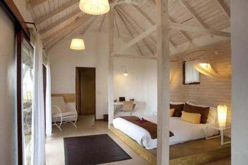 Cama o camas de una habitación en Altiplanico Rapa Nui
