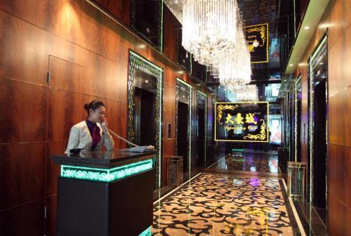 منطقة الاستقبال أو اللوبي في فندق ماندارين