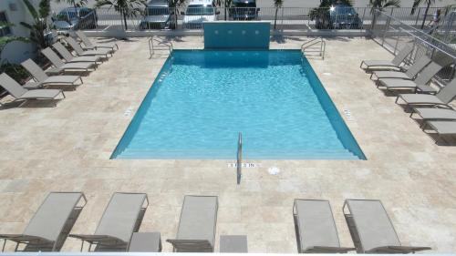 A view of the pool at Tranquilo or nearby