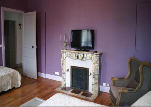 Телевизор и/или развлекательный центр в La Demeure de Laclais