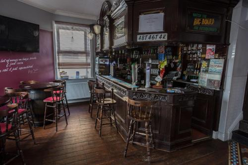 The lounge or bar area at Albert Hotel Disley