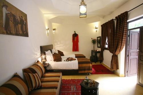 Coin salon dans l'établissement Riad Shaloma