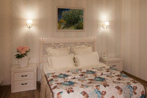 Кровать или кровати в номере Отель Высотник