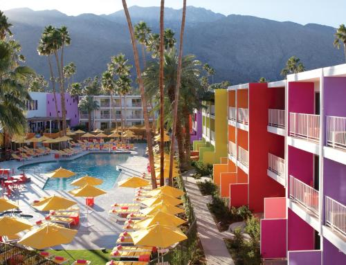 A view of the pool at The Saguaro Palm Springs or nearby
