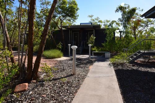 A garden outside Cicada Lodge