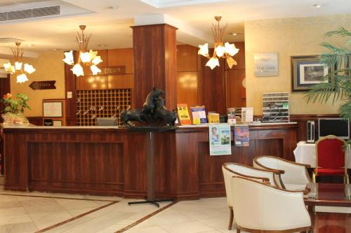 The lobby or reception area at Hotel Monterrey