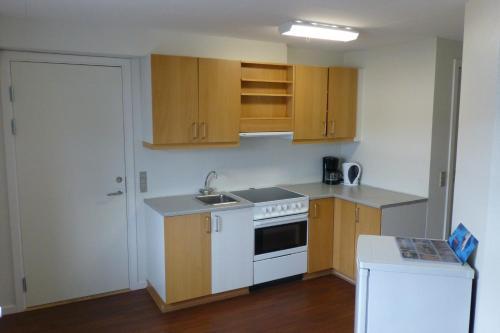 Кухня или мини-кухня в IceCap Apartments