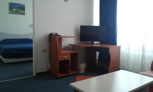 A television and/or entertainment center at Rodopi Hotel