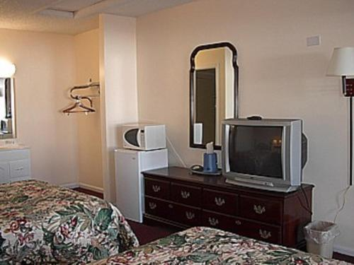 A television and/or entertainment center at Economy Inn