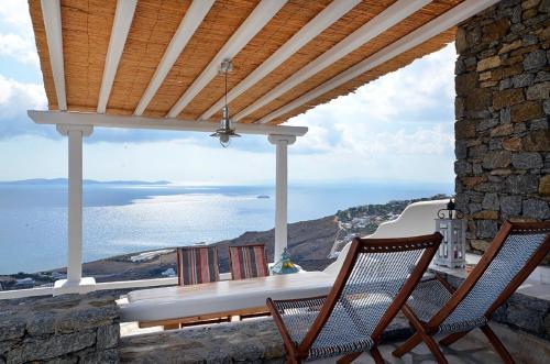 Μπαλκόνι ή βεράντα στο Villa Kelly Mykonos Amazing View