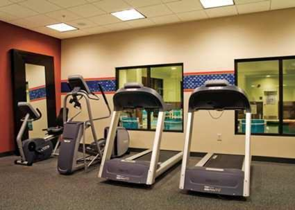 The fitness center and/or fitness facilities at Hampton Inn Brigham