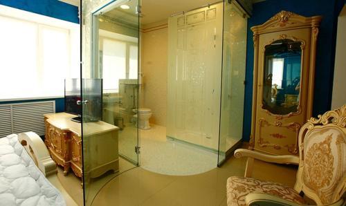 A bathroom at Bruel Hotel
