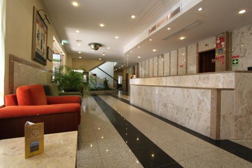A área de receção ou átrio de Hotel Sao Lourenco