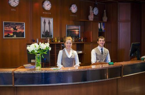 Лобби или стойка регистрации в Президент Отель