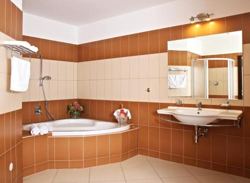 A bathroom at Sportpenzion Pohoda