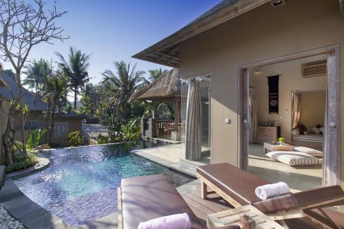 The swimming pool at or near Wapa di Ume Ubud
