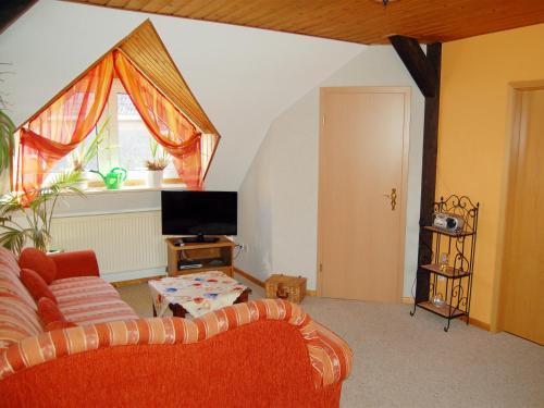 Ein Sitzbereich in der Unterkunft Ferienwohnung Prinke