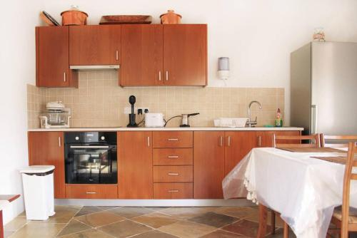 A kitchen or kitchenette at I Plateia