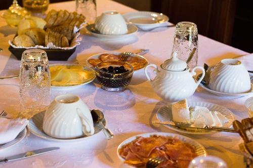 As opções de pequeno-almoço disponíveis para os hóspedes de Casa da Padaria