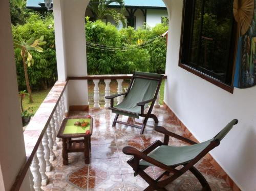 A balcony or terrace at Dan Kazou Self Catering