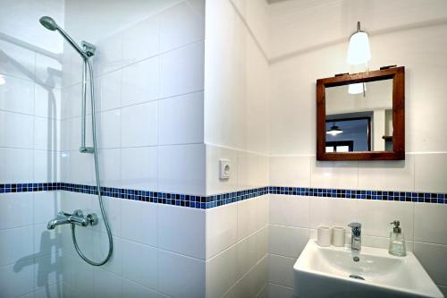 A bathroom at Penzion U Lasíků