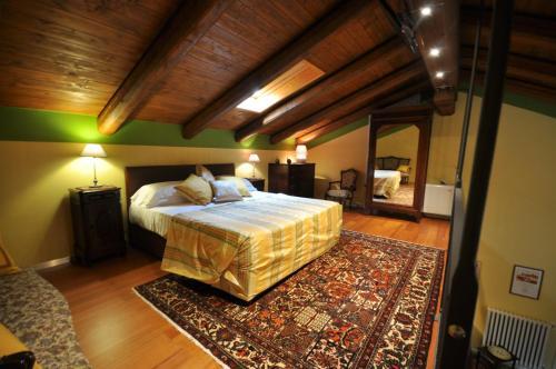 Letto o letti in una camera di Villa Crissante