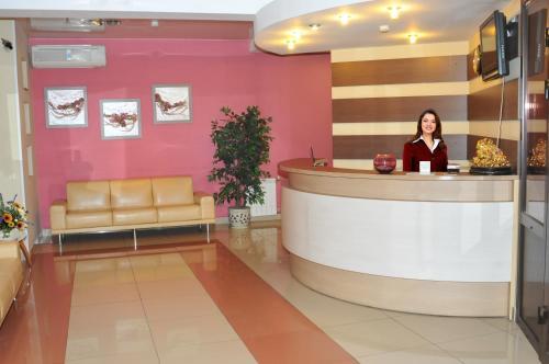 The lobby or reception area at Colibri Hotel