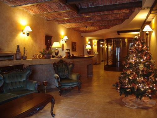 The lobby or reception area at Hotel Bella Muzica