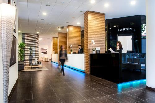 Lobby/Rezeption in der Unterkunft Hotel degli Arcimboldi