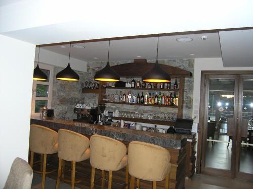 The lounge or bar area at Livadia Hotel Kyperounta