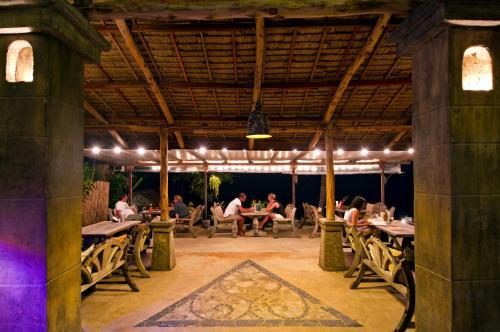 En restaurang eller annat matställe på Cactus Bungalow