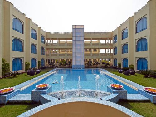 The swimming pool at or near Club Mahindra Udaipur